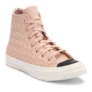 New Converse  leather hi-top sneakers 7.5